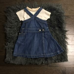 Burberry Baby 2pc Denim Dress 3M